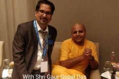 With Shri Gaur Gopal Das