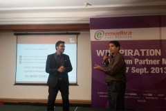 at Emudhra Meeting in Bangalore