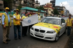 Flagging-off Pulse Polio Car Rally