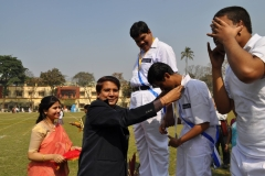 In a prize distribution ceremony - Mentaid Sports Meet