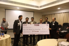 Receiving BNI Chapter Tycoon award