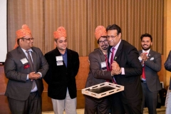 Taking over as Presdient of BNI Allianz Chapter, Kolkata (April 2017)