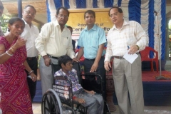Distributing Tri-cycle / wheel chairs to needy people through Rotary Club of Central Calcutta (28th June 2012)