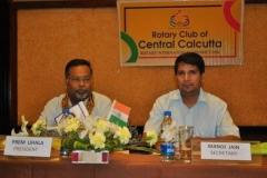 As Hony. Secretary - Rotary Club of Central Calcutta