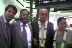 With Rotary International President Kalyan Banerjee at Kolkata Airport on 14 July 2011