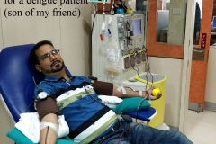 Donated platelets for a dengue patient