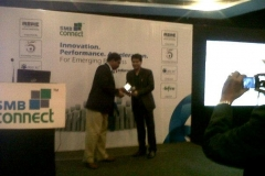Receiving memento for Speaker on 'Cloud Computing' ar SMB-Connect Conference at Chrome Hotel, Kolkata on 21 December 2012