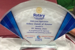 Recognition from Rotary Club