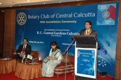 After taking over as PRESIDENT of Rotary Club of Central Calcutta at its 30th Installation Ceremony on 5th July 2013 at Halidrams Banquets, Kolkata — 5th July 2013