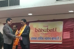 Felicitation for being elected as committee member in BBOTC (Shri Bengal Bihar Orissa Digamber Jain Tirthkshetra Committee). Thanks Team Bahubali Kolkata